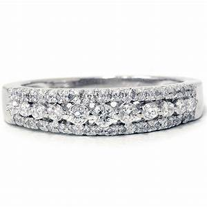 1 4ct diamond anniversary wedding ring 10k white gold With diamond wedding band ring