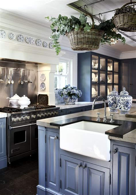 southern country kitchen coastal blue paint by general finishes brighter than 2406