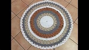 Tapis Rond Mandala : tuto tapis mandala au crochet youtube ~ Teatrodelosmanantiales.com Idées de Décoration
