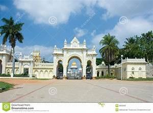 North Gate Of Mysore Maharajah's Palace Stock Photo ...