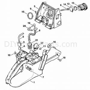 Stihl Ms 660 Chainsaw  Ms660 Magnum  Parts Diagram  Tank Housing