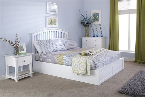 double size chair with ottoman gfw madrid wooden ottoman bed frame in white beds direct