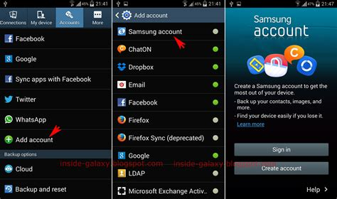 samsung galaxy s4 how to add a samsung account in android