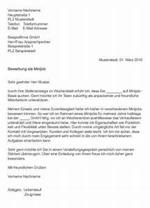 Bewerbung Für Minijob : bewerbungsschreiben minijob ~ A.2002-acura-tl-radio.info Haus und Dekorationen