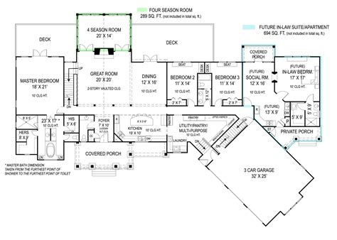 home plans with in suites pepperwood 9020 3 bedrooms and 2 baths the house designers
