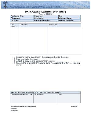 data clarification  template pdffiller