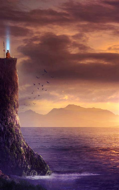 spiritual fantasy art sunrise full hd  wallpaper
