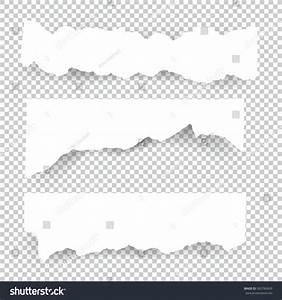 Set Blank Torn Paper Sheets Vector Stock Vector 582784609 ...