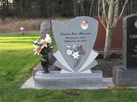 upright grave marker set at mt view cemetery in auburn