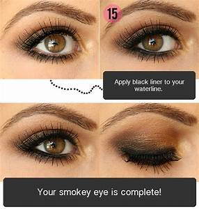Smokey eyeshadow tutorial for brown eyes