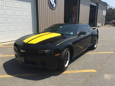 And Black Camaro by Black Camaro With Yellow Stripes Vehicle Graphics