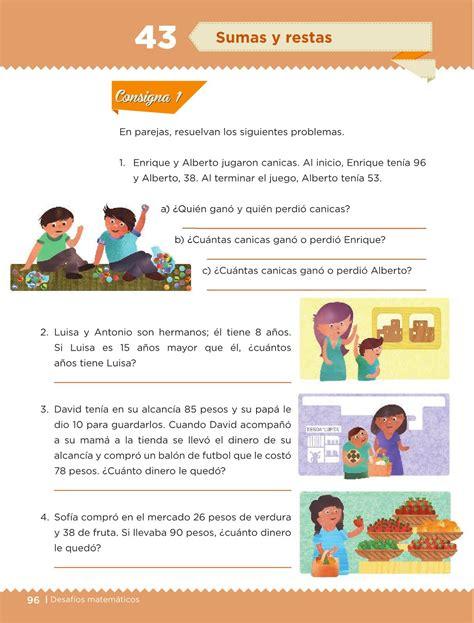 27 septiembre, 2020, 2:36 am. Desafíos Matemáticos Libro para el alumno Tercer grado 2016-2017 - Online - Página 96 de 224 ...