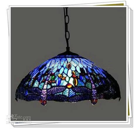 Tiffany Style Dragonfly Stained Glass Pendant Light Living