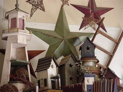 Amish Country Primitive Tin Barn Stars Built