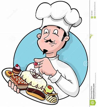 Chef Pastry Clipart Holding Plate Delicious Fresh