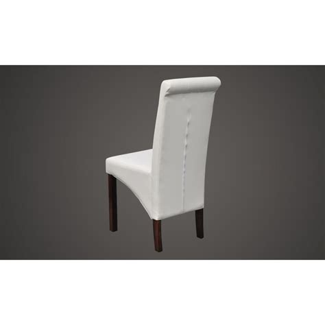 chaise de cuisine en cuir blanc la boutique en ligne chaise antique simili cuir blanc lot
