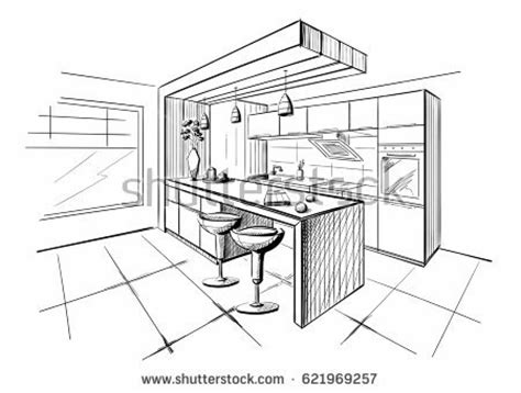 Kitchen Layout Vector by Kitchen Design Drawing At Getdrawings Free For
