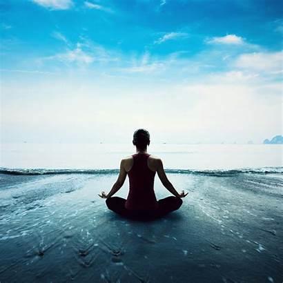 Yoga Sea Wallpapers Horizon Overlooking Qhd Meditation