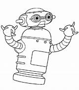 Robot Coloring Pages Printable sketch template