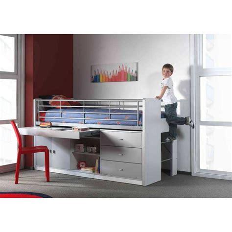 lit et bureau lit enfant combiné avec bureau coulissant byblo coloris