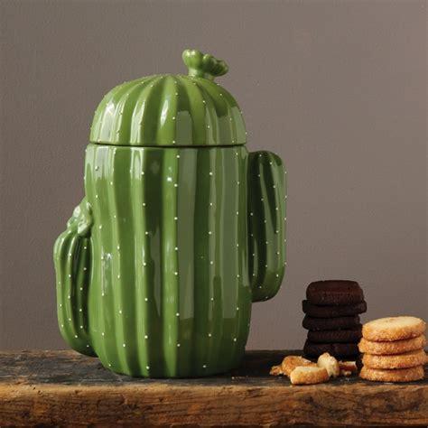 stoneware cactus shaped cookie jar antique farmhouse