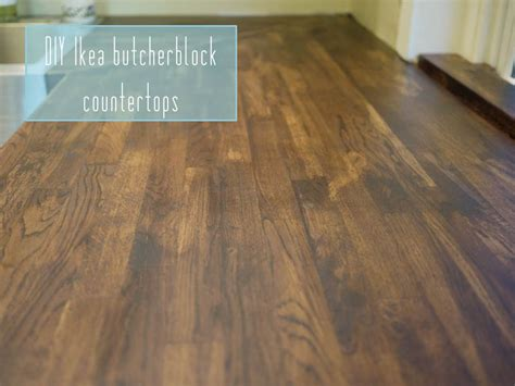 Staining Butcher Block Countertops by Ikea Butcherblock Countertops Part 1 Kelley Alex