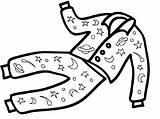 Coloring Pajama Printable Sleep Well Pajamas Pages Try Educativeprintable sketch template