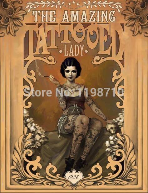 """Mrs Amazing Tattoo Art Poster Print 20x30 """"wall Sticker"""