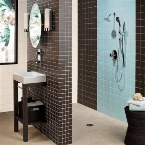 bathroom shower floor tile ideas blue shower tile design for small bathroom home interiors