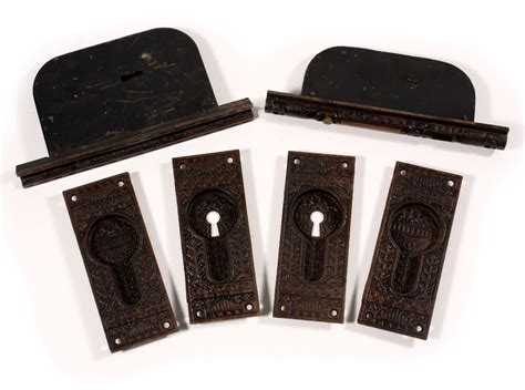"""Complete Antique Rhc """"windsor"""" Pocket Door Hardware Set For Double Doors, 1880's Npdp11 For Sale Antique Cars And Trucks Antiques Hereford Stores That Buy Furniture Jewelry Box Hardware Wall Sconces Uk Silver Letter Tray In Wichita Ks Show New York 2016"""
