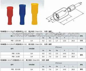 Female Spade Connector Size Chart 4mm Female Bullet Connector Crimp Terminals In Blue