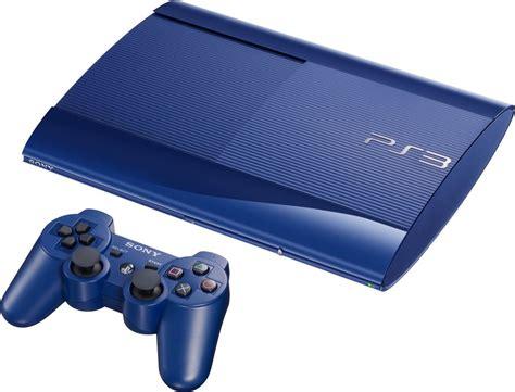console ps3 genuine sony playstation 3 slim 500gb blue console