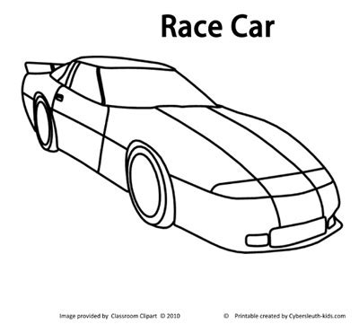 Race Car Coloring Page 2011 10 14 Coloring Page