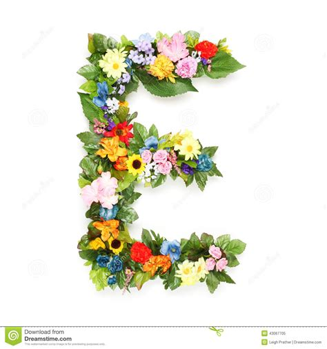 letters  leaves  flowers stock photo image