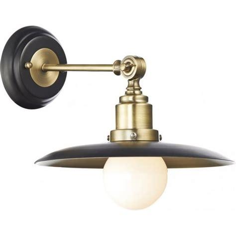 dar han0754 hannover wall light 1 light black antique brass wall light