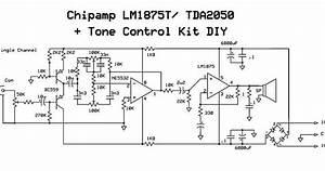 Wiring Schematic Diagram  I C  Amp  Lm75t   Tda2050   Tone