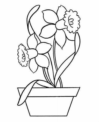 Coloring Easy Pages Flowers