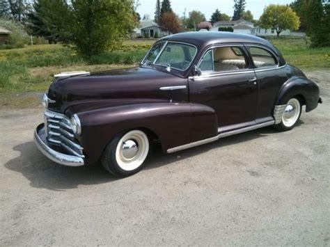 1948 Chevrolet 2 Door Coupe Stock 235 Motor For Sale