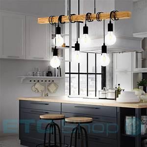 Holz Lampen Decke : design pendel lampe k chentisch beleuchtung holzbalken b ro decken h nge leuchte ebay ~ A.2002-acura-tl-radio.info Haus und Dekorationen