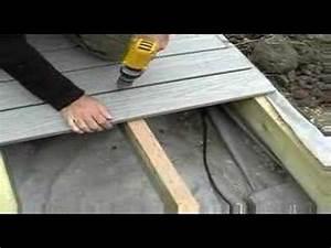 principe de montage et pose de clip pour terrasses bois With comment faire une terrasse en composite