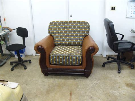 Furniture And Upholstery by Living Room Chair Restoration With Customized Upholstery