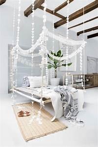 Deco Chambre Blanche : chambre boh me blanche et pleine de charme pour un chez ~ Zukunftsfamilie.com Idées de Décoration