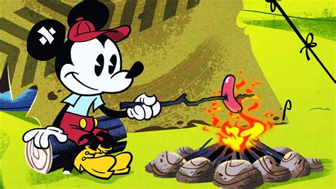 Youtube Old Mickey Mouse Cartoons Roughin It A Mickey Mouse Cartoon Disney Shorts Youtube