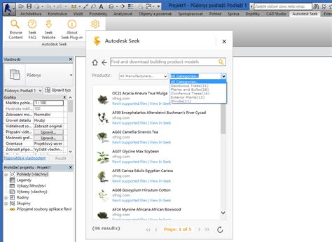 autodesk seek for revit na zdi autodesk seek extension knihovny pro