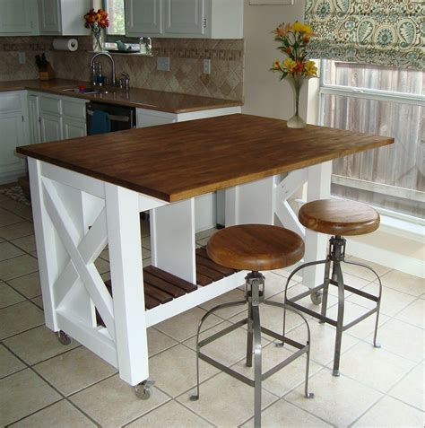 kitchen islands diy white rustic x kitchen island done diy projects