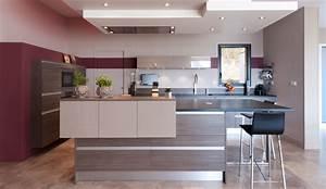cuisine moderne avec un ilot central modele serenade With modele de cuisine moderne avec ilot