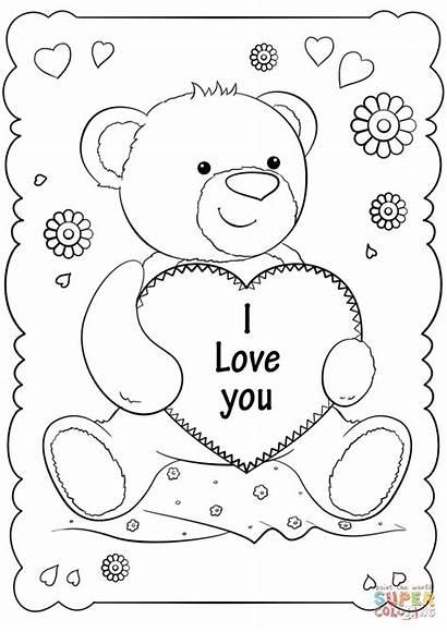 Colorear Amo Te Dibujos Coloring Card Printable