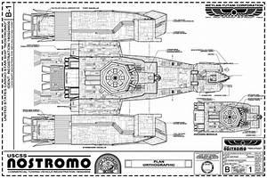 USCSS NOSTROMO - Exterior Blueprints from: Propsummit.com ...