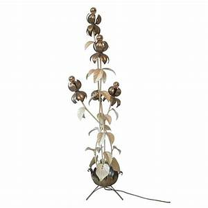 Large flower floor lamp in style of hans kogl 1960s for Large flower floor lamp