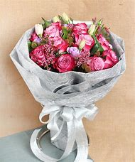 Silver Purple Roses